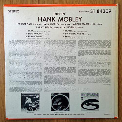 hank mobley - dippin - rear