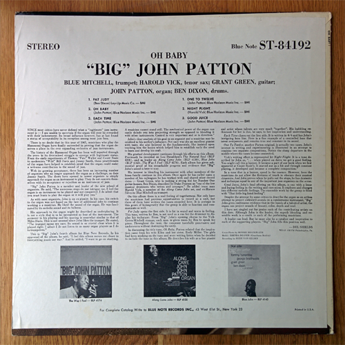 john patton - oh baby! - rear
