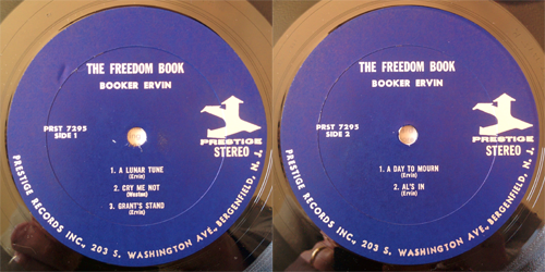 booker ervin - the freedom book - labels
