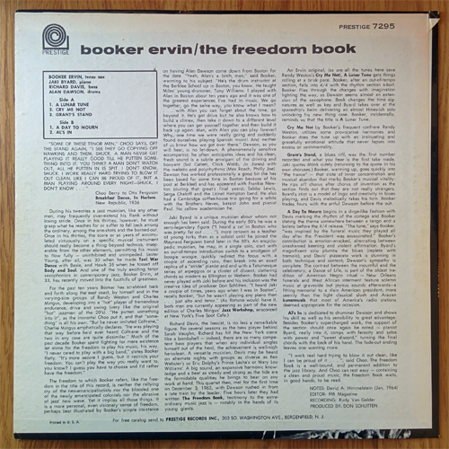booker ervin - the freedom book - rear