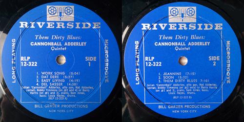julian adderley - them dirty blues - labels